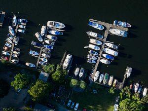 Lechler Bootsstände & Fischerei aus der Vogelperspektive